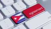 Cuba Agreement Concept — Stockfoto