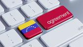 Venezuela Agreement Concept — Zdjęcie stockowe