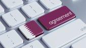 Qatar Agreement Concept — Zdjęcie stockowe