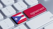 Puerto Rico Agreement Concept — Zdjęcie stockowe