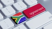 South Africa Agreement Concept — Stockfoto