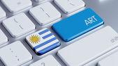 Uruguay Art Concept — Zdjęcie stockowe