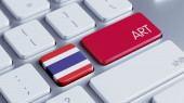 Thailand Art Concept — Zdjęcie stockowe