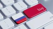 Concetto acquista russia — Foto Stock