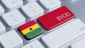 Ghana Byod Concept — Stock Photo