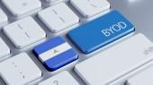 Nicaragua Byod Concept — Foto Stock