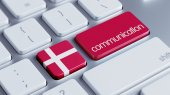 Denmark  Communication Concep — Stock Photo