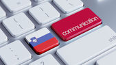 Slovenia  Communication Concep — Stock Photo