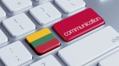 Lithuania  Communication Concep — Stock Photo