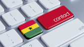 Ghana Contact Concept — Stock Photo