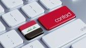 Iraq Contact Concept — Stock Photo