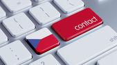 Czech Republic Contact Concept — Stock Photo