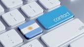 Argentina Contact Concept — Stock Photo
