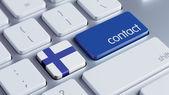 Finland Contact Concept — Stock Photo