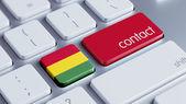 Bolivia Contact Concept — Stock Photo
