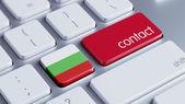 Bulgaria Contact Concept — Stock Photo