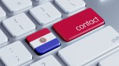 Paraguay Contact Concept — Stock Photo
