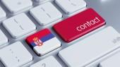 Serbia Contact Concept — Stock Photo