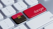 Angola Danger Concept — Stock Photo