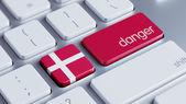 Denmark Danger Concept — Stock Photo