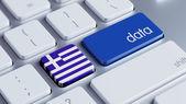 Greece Data Concept — Stock Photo