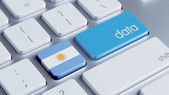 Argentina Data Concept — Stock Photo