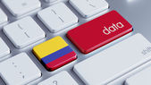 Colombia Data Concept — Stock Photo