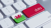 Wales Data Concept — Stock Photo