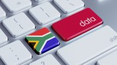 South Africa Data Concept — Stock Photo