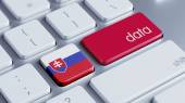 Slovakia Data Concept — Stock Photo