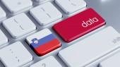 Slovenia Data Concept — Stock Photo
