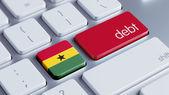 Ghana Debt Concept — Stock Photo