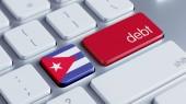 Cuba Debt Concept — Stock Photo