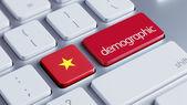 Vietnam Demographic Concep — Stock Photo