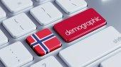 Norsko demografické Concep — Stock fotografie