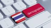 Thailand Demographic Concep — Stock Photo
