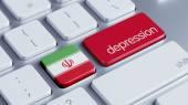 Iran Depression Concep — Stock Photo