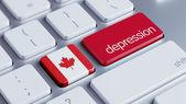 Canada Depression Concep — Stock Photo