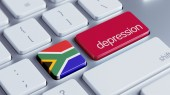 South Africa Depression Concep — Stock Photo