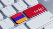 Armenia Design Concept — Stock Photo
