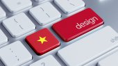 Vietnam Design Concept — Stock Photo