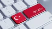 Turkije doneren concept — Stockfoto