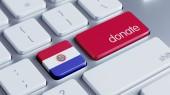 パラグアイ寄付コンセプト — ストック写真