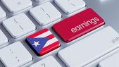 プエルトリコの収益の概念 — ストック写真