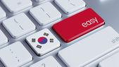 South Korea Keyboard Concept — Fotografia Stock