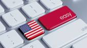 United States Easy Concept — Stock Photo