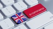 United Kingdom E-Commerce Concept — Stock Photo