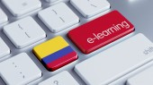 Colombia E-Learning Concept — Stock Photo