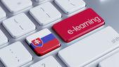 Slovakia E-Learning Concept — Stock fotografie