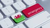 Wales Emergency Concept — Stock Photo